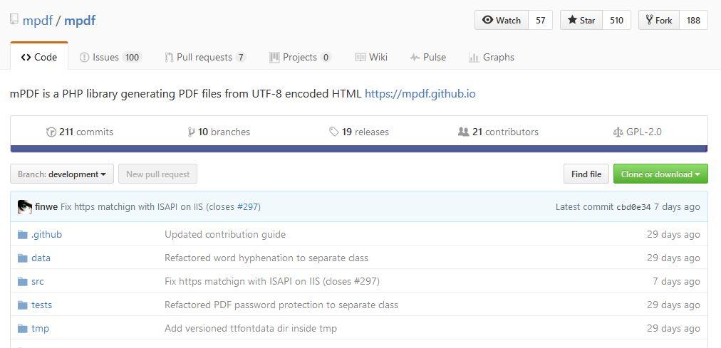 convertir html a pdf php