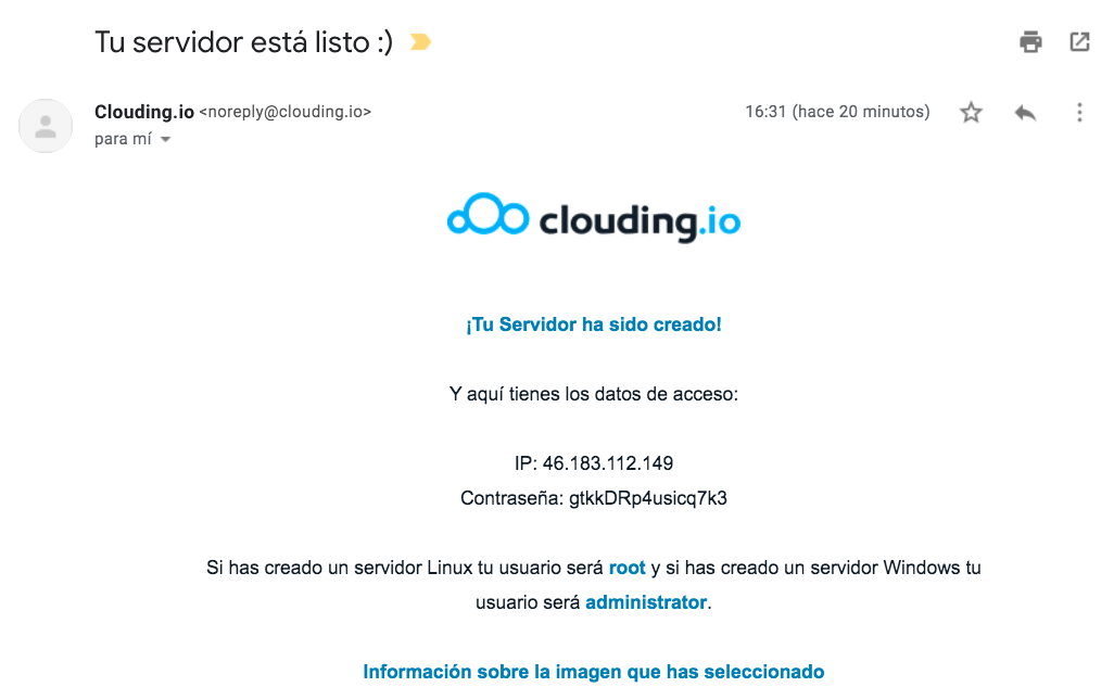 clouding email